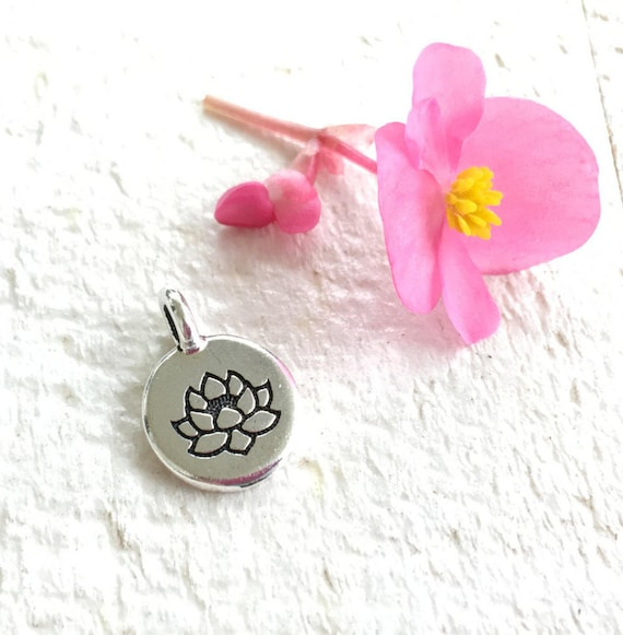 Lotus Flower Charm For Tassel, Mala Bead Charm, Lotus Jewelry, Add A Charm To Your Mala, Personalize Your Mala