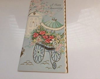 Vintage Anniversary card unused+env