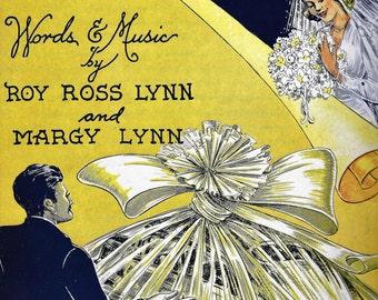 honeymoon for three paper doll bing crosby sheet music covers 1940s