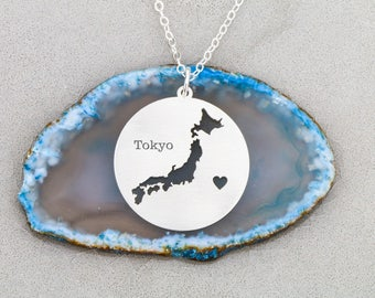 SALE • Japan Necklace • Japan Charm Necklace • Japan Pendant • Tokyo • Custom Japan Jewelry • Custom Charm Keepsake•Oriental Necklace