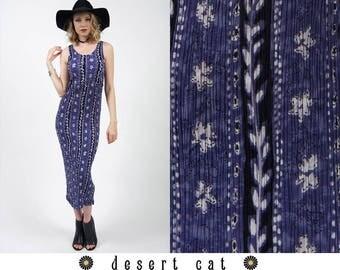 vintage 90s dress vintage 1990s dress vintage 90s purple ethnic/floral print crinkle sun dress vintage boho bohemian hippie summer dress