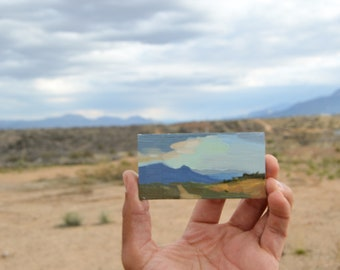 Tiny View From Camp Verde Conoco / Framed Oil Painting