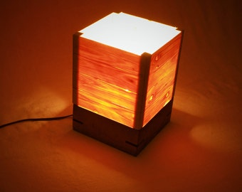 Wood Veneer Accent Lamp & Night Light