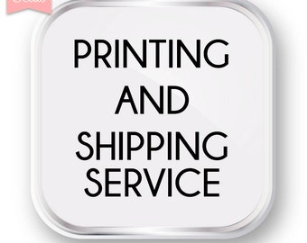 PRINTING AND SHIPPING Service - Premium Luster Photo Paper - 24x36""