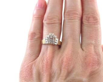 14k Yellow Gold women's Diamond Ring, 14k Yellow Gold Diamond Band