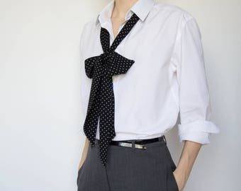 Polka Dot Long Scarf, Mens Polka Dot Scarf, Gift Ideas, Long Skinny Scarf