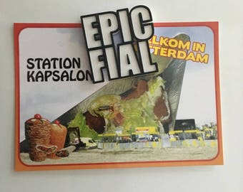 EPIC FAIL fridge magnet | 3D printed failing meta image macro