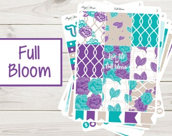 Full Bloom Weekly Kit | Planner Stickers
