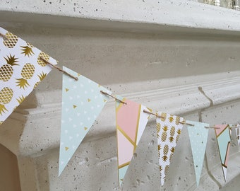 Quirky Pineapple Pastel Paper Banner