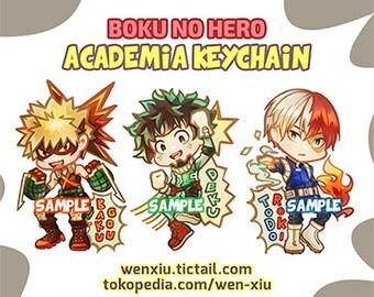 Boku no Hero Academia Acrylic Keychain (Bakugou, Deku, Todoroki)