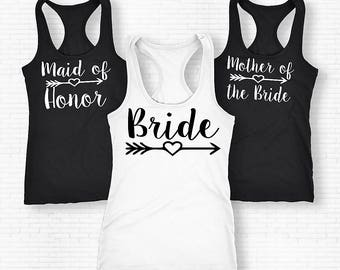 Bridesmaid Tank Top,  Bridal Party Shirt, Maid of Honor Tank Top, Mother of the Bride Shirt, Bridal Gift, Wedding Tank Top, Bridesmaid Gift
