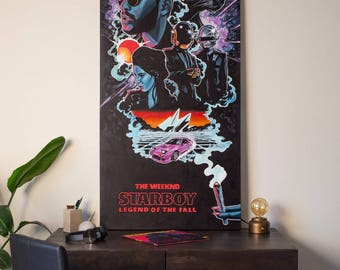 The Weeknd's Starboy Poster (Toronto, Rap, Hip Hop, Legend of the Fall Tour, Abel Tesfaye, XO, OVO, Art, Print, Poster, Fan Art, Weed)