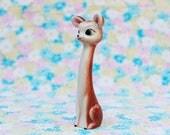 Kawaii Cute Holt Howard Style Big Eyed Deer Salt Shaker Figurine Extra Long Neck Adorable