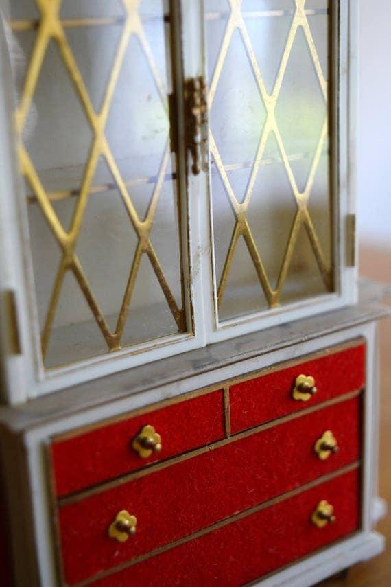 Vintage Petite Princess Dollhouse Cabinet - Miniatures, Fairy House, Mid Century