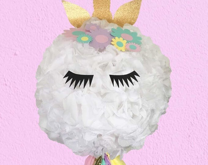 Unicorn Piñata, Unicorn Party,  Unicorn Birthday Piñata, Unicorn Horn and flowers, huge pinata
