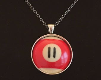 """Necklace - # 11 Pool Ball  (16""""-24"""")"""