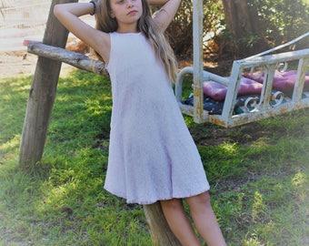 Flower girl lace dress - pink dress for teenage girls  - flower girl dress - bridesmaid girl dress - teen dress - soft pink lace dress