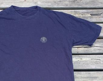 Vintage 90's Club Monaco Small Circle dark blue t-shirt