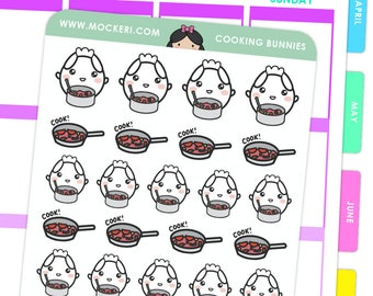 Cooking Bunnies / Planner Stickers