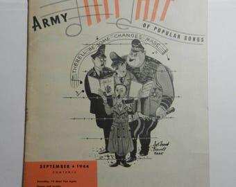 Summer Sale Vintage WW2 Army Hit Kit Popular Songs Booklet Program