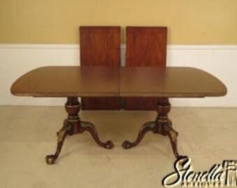L40963E: CENTURY Claw Foot Mahogany Banded Dining Room Table