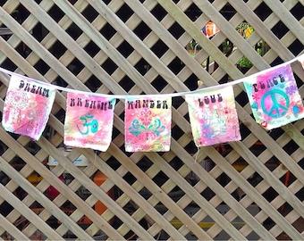 Boho Prayer Flags Handmade Nursery Decor Home Decor