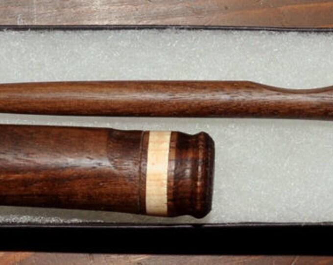 Walnut wood stitch lay helper tool plus mixed wood needle case set (skumw15)