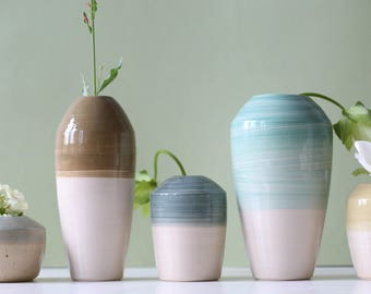 Five ceramic vases 17-239