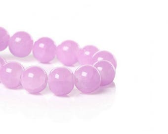 80 purple 10mm glass Crystal beads