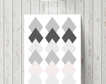 Diamond wall print