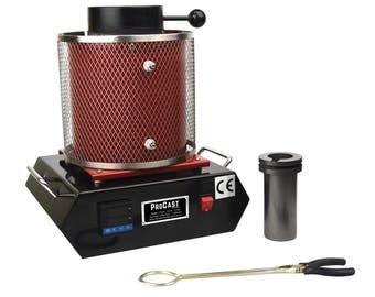ProCast™ 1 Kg Digital Electric Melting Furnace Gold Silver Copper US 110V OR Euro 220V Jewelry Making Casting Metal Refining - FUR-0014-15