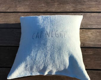 washed linen pillow cover