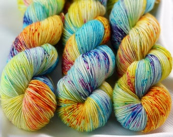 Indie Dyed Yarn, Hand Dyed Yarn, Speckled Sock Yarn, Sock Yarn, Indie Sock Yarn, Indie Sparkle Yarn, Indie Speckled Yarn, Tell Me More
