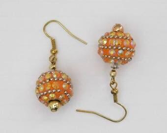Decorated Sphere Earrings