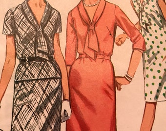 Vintage Shift Dress Or Top and Skirt Pattern---Simplicity 6895---Size 14  Bust 34  UNCUT