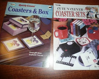 Coasters & Box Plastic Canvas Pattern Leaflets-Leisure Arts And Rogers