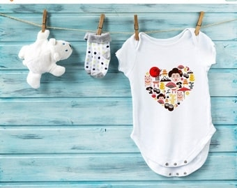 10% OFF SALE I love Japan baby bodysuit, japan baby bodysuit, cute baby clothes, baby boy clothes, baby girl clothes, baby shower gift, sush