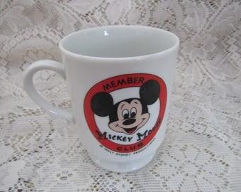 Vintage Mickey Mouse Mug , old Japan