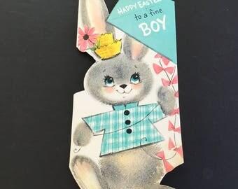 Vintage Easter Greeting Card, to boy, Bunny & kite, Hallmark