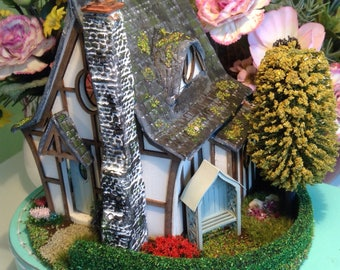 1/48, miniature, enchanted, dolls house, Woodcutters cottage