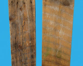 2 pieces of old barn wood for crafting,craft supplies,rustic craft projects, cut off pieces