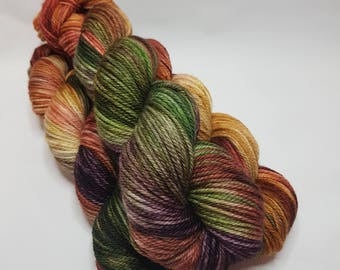Hand dyed Merino yarn, ARAN weight, 100g, CHERYL, Best Friends edition