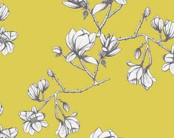 1/2 Yard Wild Bloom by Bari J. for Art Gallery Fabrics -Magnolia Study Zest 12036