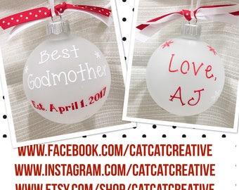 Personalized Best Godmother Christmas Ornament | Godmother Christmas Ornament | Godmother Gift | Gifts for Godmother | Godmother Keepsake