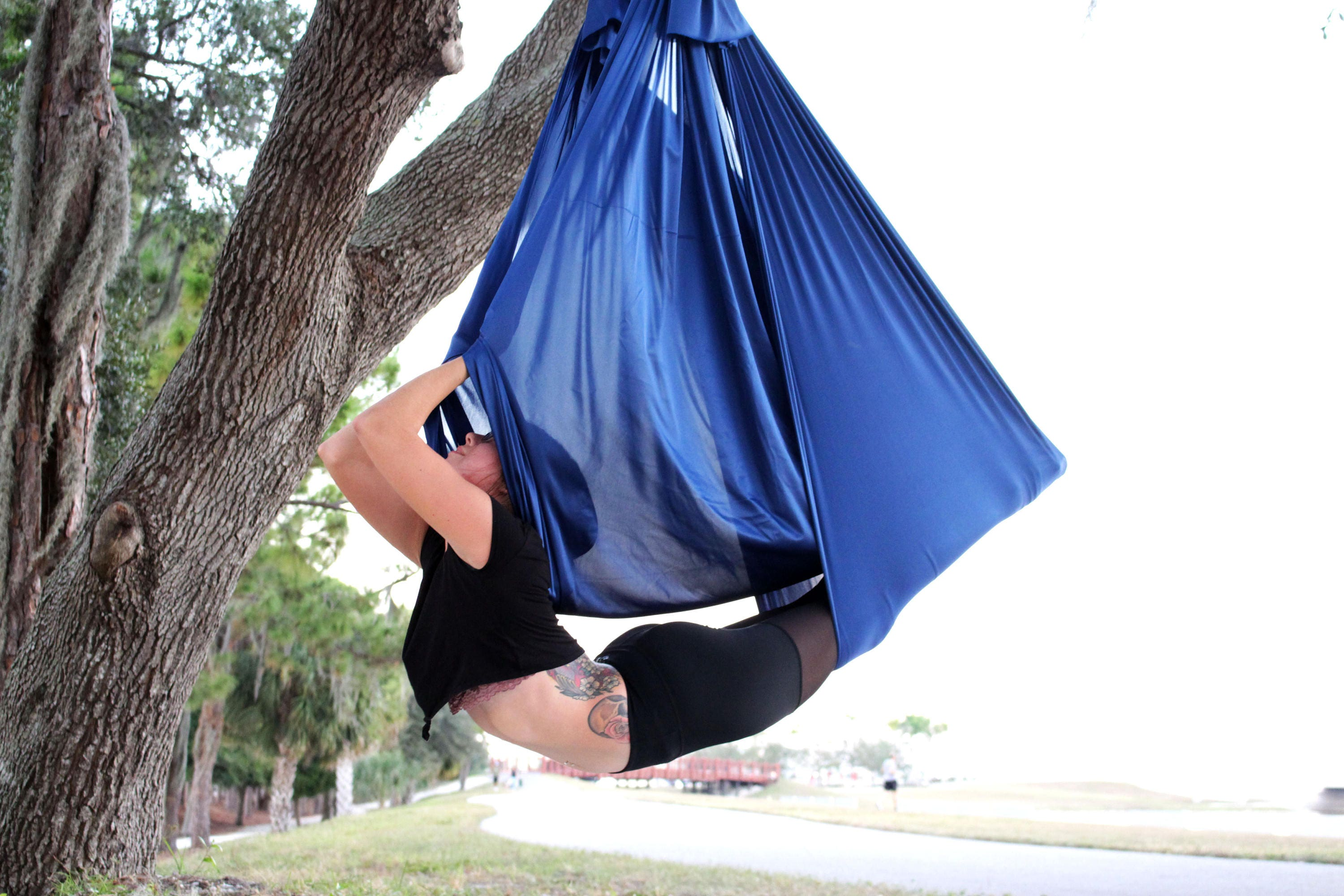 quick ship   navy   aerial yoga hammock  rh   gettinginverted