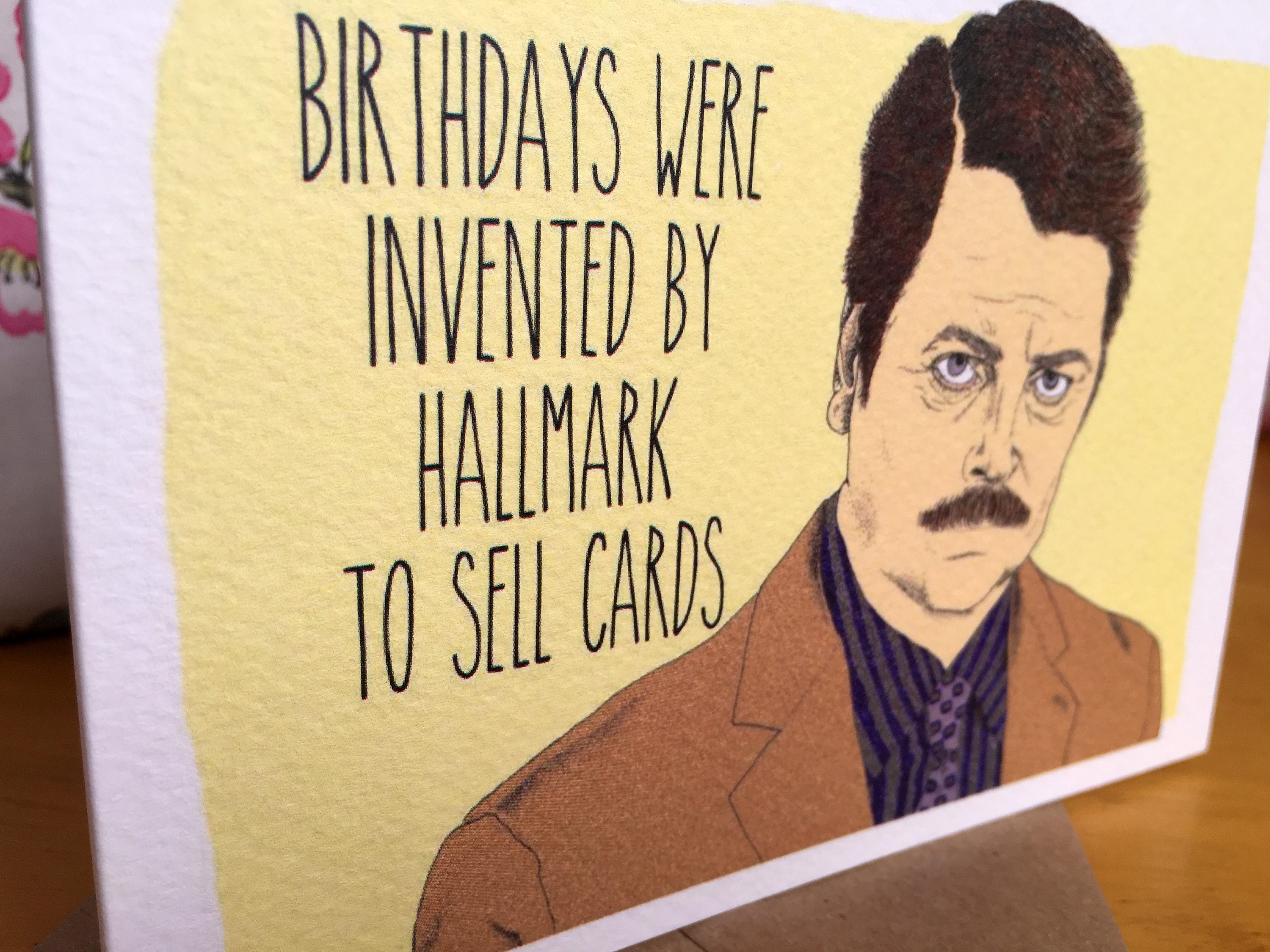 Ron Swanson Parks and Recreation Birthday Card E10261624441317157M