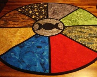 """28.5 """" Altar Cloth, Large, Wheel of the Year, Lined"""