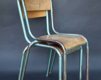 Vintage Old School Stacking Chair