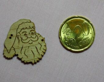 Wood Santa Claus ref 610-B button