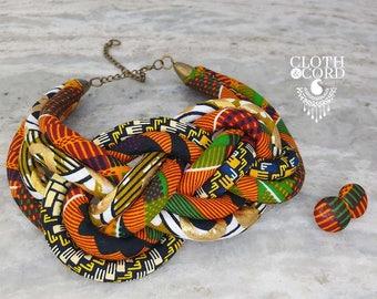 Kente Sailor Knot Necklace
